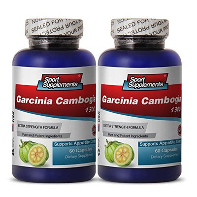 CLA supplement - Garcinia Cambogia 1300 - Loose weight fast for women (2 Bottles 120 Capsules)