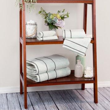 Lavish Home Zero Twist 100% Cotton 6 Piece Towel Set Color: Seafoam
