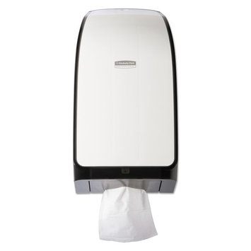 Kimberly-Clark Professional* IN-SIGHT Hygienic Interfolded Toilet Paper Dispenser, 7.375x6.375x13 3/4, White