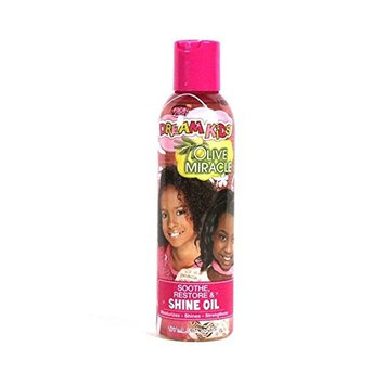 AFRICAN PRIDE DREAM KID OLIVE MIRACLE GROW SHINE OIL 6 OZ SOOTHES RESTORES
