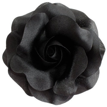 Sara Monica Flower Hair Clip and Pin: Rose: Made in the USA