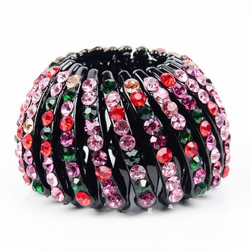 HEART SPEAKER Bird Nest Rhinestone Expanding Tail Hair Bun Holder Grip Claw Hair Accessory size S