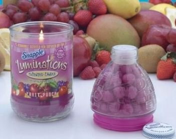 Snapple Luminations Fruit Punch Scented Candle & Infuser