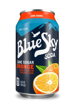 Blue Sky® Cane Sugar Orange Soda 6-12 fl. oz. Cans
