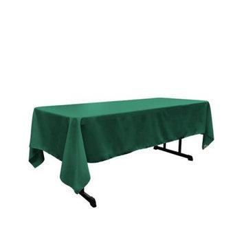 LA Linen TCpop60x102-TealP43 Polyester Poplin Rectangular Tablecloth Teal - 60 x 102 in.