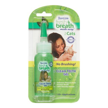 TropiClean Fresh Breath Clean Teeth Gel for Cats, 2 fl. oz. ()