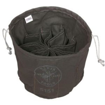 Klein Tools 11 in. Ten-Compartment Drawstring Tool Bag