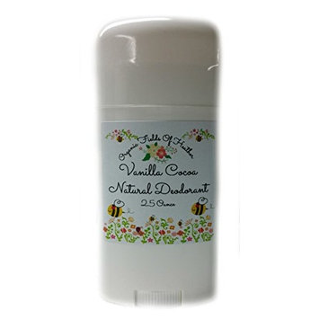Organic Fields of Heather Vanilla Cocoa Organic & Natural Deodorant With Botanically Infused Ingredients, 2.5 fl. Oz