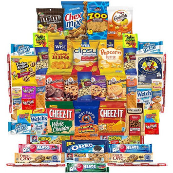 Munchies Care Package Chips Cookies & Candy Includes Goldfish, Oreos, Skittles, Sour Patch, m&m Cookie, Air Heads, Planters Peanuts, Rice Krispies & More...