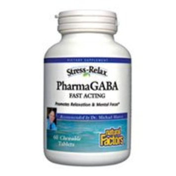 Natural Factors - Stress-Relax Pharma GABA 100mg, Supports Mental Focus & Relaxation, 120 Chewable Tablets