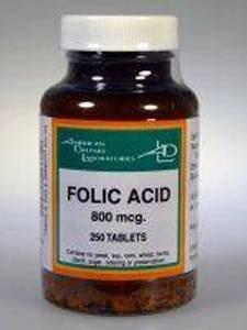 Folic Acid 800 mcg 250 tabs by American Dietary Labs