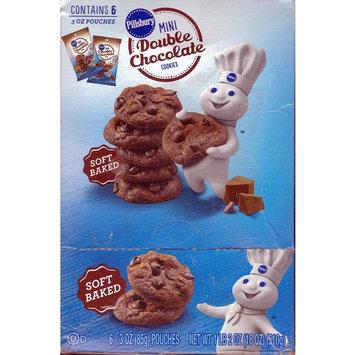 Pillsbury Soft Baked Mini Double Chocolate Cookies - Kids Favorite Snacks -3 Oz Bags (6 Pack)