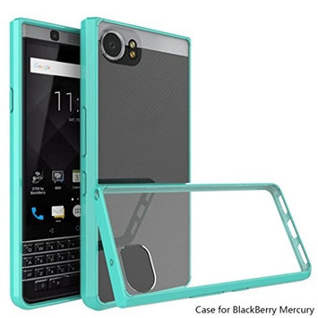 HP95(TM) Fashion Hybrid TPU Bumper Hard Clear Back Phone Cover Case for BlackBerry Keyone DTEK70 Mercury