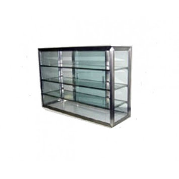 Carib 19S, 12x28-Inch 4-Compartment Display Case With Sliding Door
