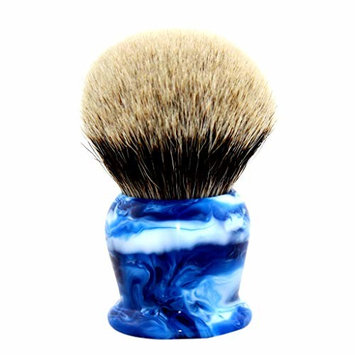 40MM Silvertip Badger Hair Shaving Brush w/Blue Camouflage Handle by Frank Shaving