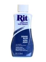 Rit Dyes denim blue, liquid, 8 oz. bottle [pack of 6]