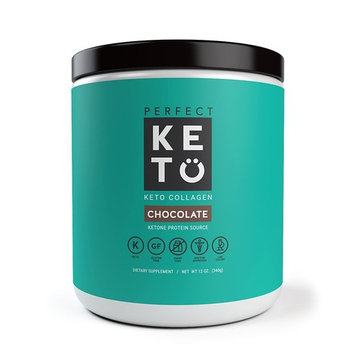 Perfect Keto Chocolate Protein Powder: Collagen Peptides Grassfed low Carb Keto Drink Supplement With MCT Oil Powder. Best as Keto Drink Creamer or added to Ketogenic Diet Snacks. Paleo & Gluten Free [Chocolate]