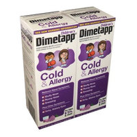 Children's Dimetapp Cold and Allergy Grape Flavored Cough Syrup 8 Ounce Bottle (Pack of 2)