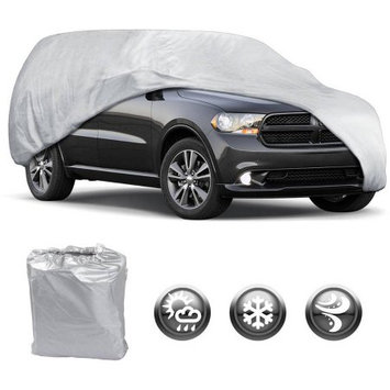 Bdk Motor Trend All Season WeatherWear 1-Poly Layer Snow proof, Water Resistant Car Cover Size XL1 - Fit