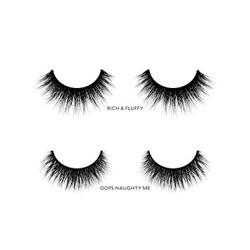 Velour Lashes - Almond Eye Shape Kit (2 Pairs of Mink Lashes) - Fake/False Natural Eyelashes - Long Lasting 25+ Applications - Natural & Lightweight - Ethically Sourced - Easy Application