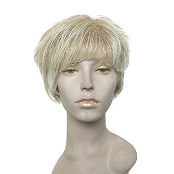 Ombre Blonde Wig Short Bob Hairpiece Heat Resistant Synthetic Hair Replacement Wigs for Mum by Namecute ; Free Wig Cap