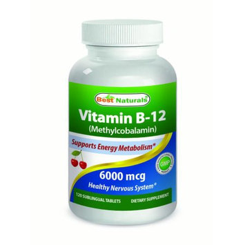 Best Naturals - Vitamin B-12 Time Realesed - 6000 mcg - 120 Tablets