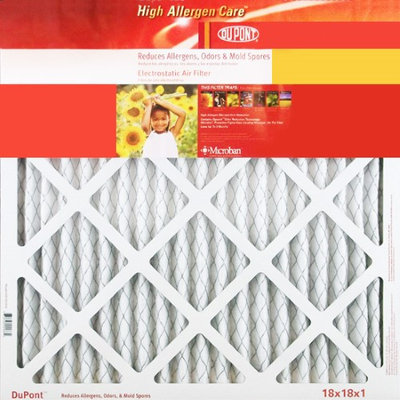 20x21.5x1 Dupont High Allergen Care MERV 11 Air Filters (2 Pack)