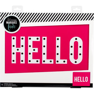 American Crafts Heidi Swapp Marquee Love Box-Hello 15