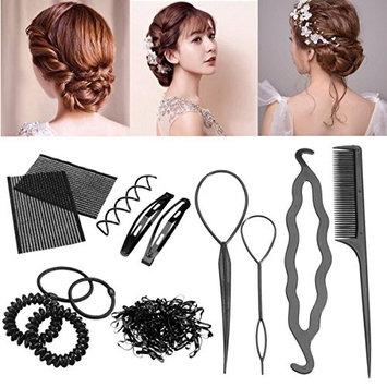 10Pcs Women Magic Braiders Hair Twist Styling Clip Stick Bun Maker Braid Tool US