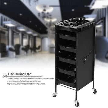Anself Hair Rolling Cart Drawers Salon Trolley Storage Hair Colouring Cart Hairdressing Tool for Barber & Spa
