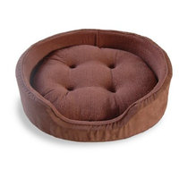 FurHaven Pet Dog Bed | Oval Pet Bed for Dogs & Cats - Available in Multiple Colors & Styles