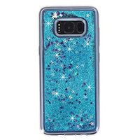 For Galaxy S8 Case,HP95(TM) Fashion Bling Liquid Glitter Soft Gradien Color Case Cover For Samsung Galaxy S8 5.8inch (Blue)