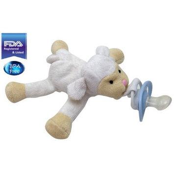3b Global CuddlesMe Pacifier with Detachable Plush Lamb