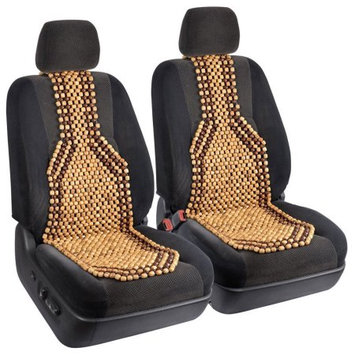 Lavohome 2pc Beaded Massage Wood Cushion Seatc Comfort for Car Home Office - Set of 2