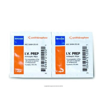 5459421200BX - IV Prep Antiseptic Wipes - 50 count