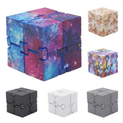 Bluelans Xmas Gift Infinite Cube Fidget EDC Magic Cube Toy Stress Reliever for Kids Adult