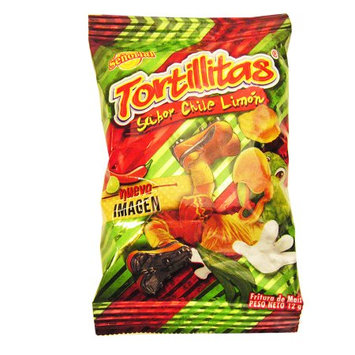 Tortilla Senorial Pepper and Lime Flavor Snack 12 x 0.42 oz (Pack of 4)