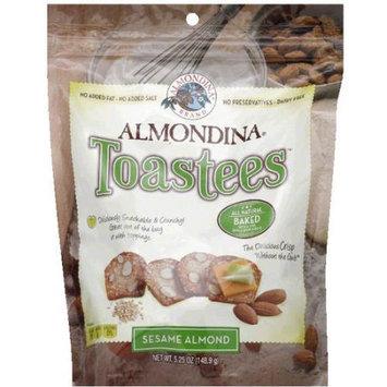 Almondina Sesame Almond Toastees, 5.25 oz, (Pack of 12)