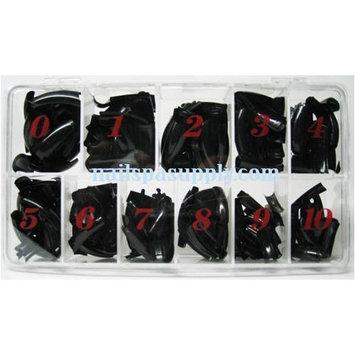 NAIL TIP BLACK BOX 550 PCS/BOX