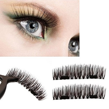 3D False Eyelashes, Creazy Ultra-thin 0.2mm Magnetic Eye Lashes 3D Reusable False Magnet Eyelashes
