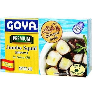 Premium Jumbo Squid Octopus Style in Olive Oli by Goya 4 oz