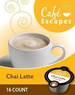 Cafe Escapes Chai Latte VUE Packs for VUE Brewers (80 VUE Packs)