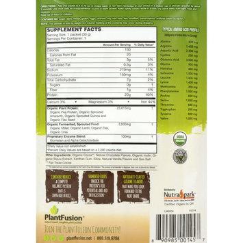 PlantFusion Organic Plant Based Protein & Fermented Foods Powder, Chocolate, 1.06 oz Single Serving Packet, 12 Count, USDA Organic, Vegan, Gluten Free [Chocolate]