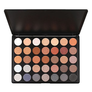 PhantomSky Pro 35 Colors Eyeshadow Eye Shadow Makeup Cosemetic Contour Palette - Perfect Matte and Shimmer Highly Pigmented Powder Glitter for Professional and Daily Use