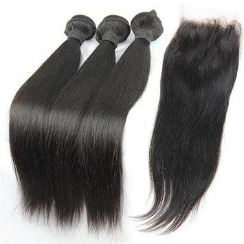 MsFenda Hair Top Quality 100% Raw Virgin Peruvian Human Hair Straight Hair 3pcs 10