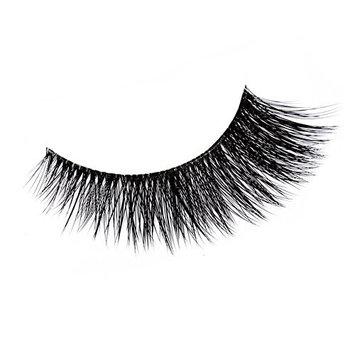 Luismia 3 Pairs Natural Long Cross False Eyelashes Handmade 3D Makeup Reusable Fake Eye Lashes Extension