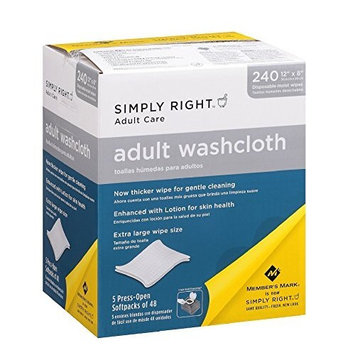 Member's Mark Adult Washcloths 240ct