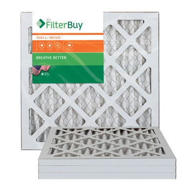 AFB Bronze MERV 6 8x16x1 Pleated AC Furnace Air Filter. Filters. 100% produced in the USA. (Pack of 4)