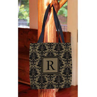 Thumbprintz - Damask Monogram Tote Bag