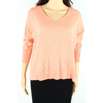 Cotton Emporium NEW Orange Women Large L Ribbed Crisscross-Back Knit Top